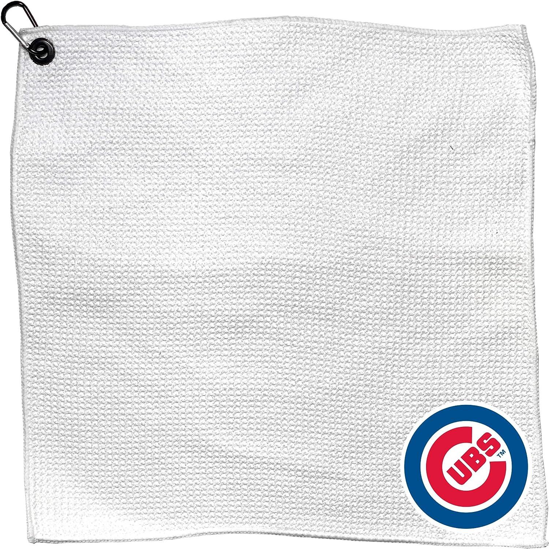 Team Golf MLB Towel with Raleigh Mall [Alternative dealer] Carabiner Clip Premium Microfiber