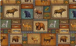 Toland Home Garden Quilted Wilderness 18 x 30 Inch Decorative Wildlife Floor Mat Animal Collage Doormat - 800192