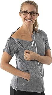 Women's Short Sleeve Lindsey Top - Post Surgery Clothing Adaptive Apparel