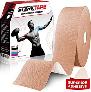 Kinesiology Tape Bulk   Designed to Help Boost Athletic Performance, Prevent Joint, Muscle Pain and Ease Inflammation   Easy to Apply, 97% Natural Cotton /3% Spandex