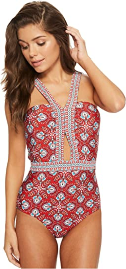 Laundry by Shelli Segal - Butterfly Twin Cut Out One-Piece Swimsuit