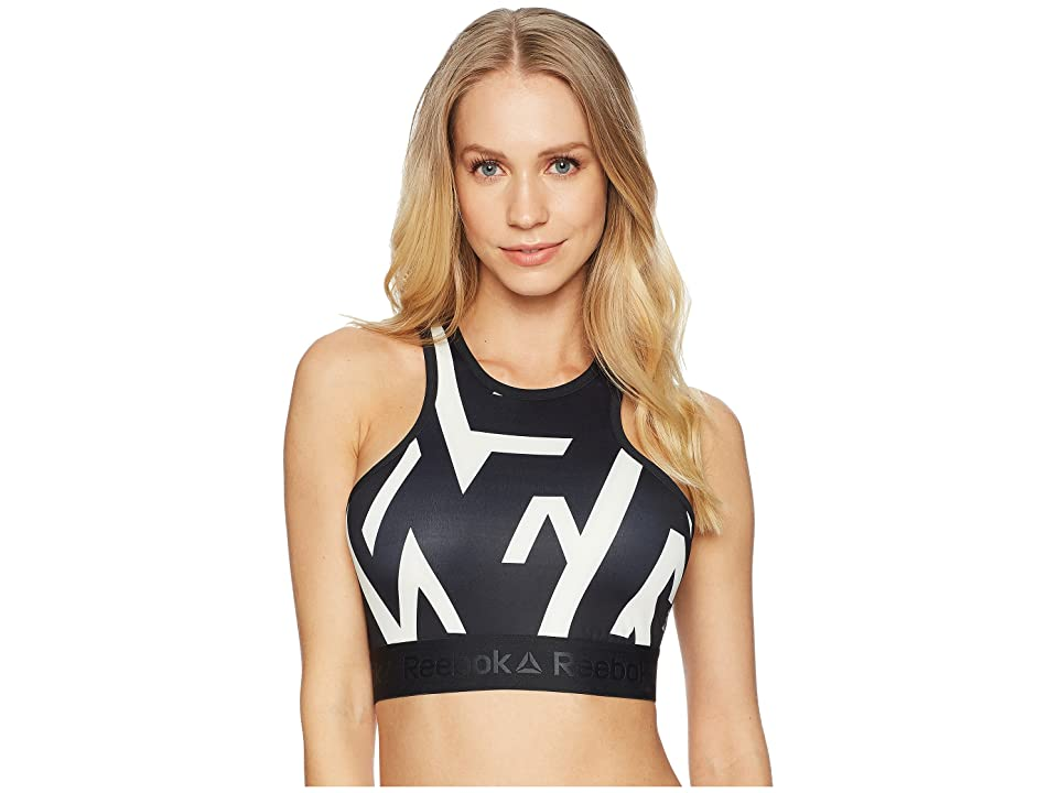 Reebok Geo Print Crop (Black) Women