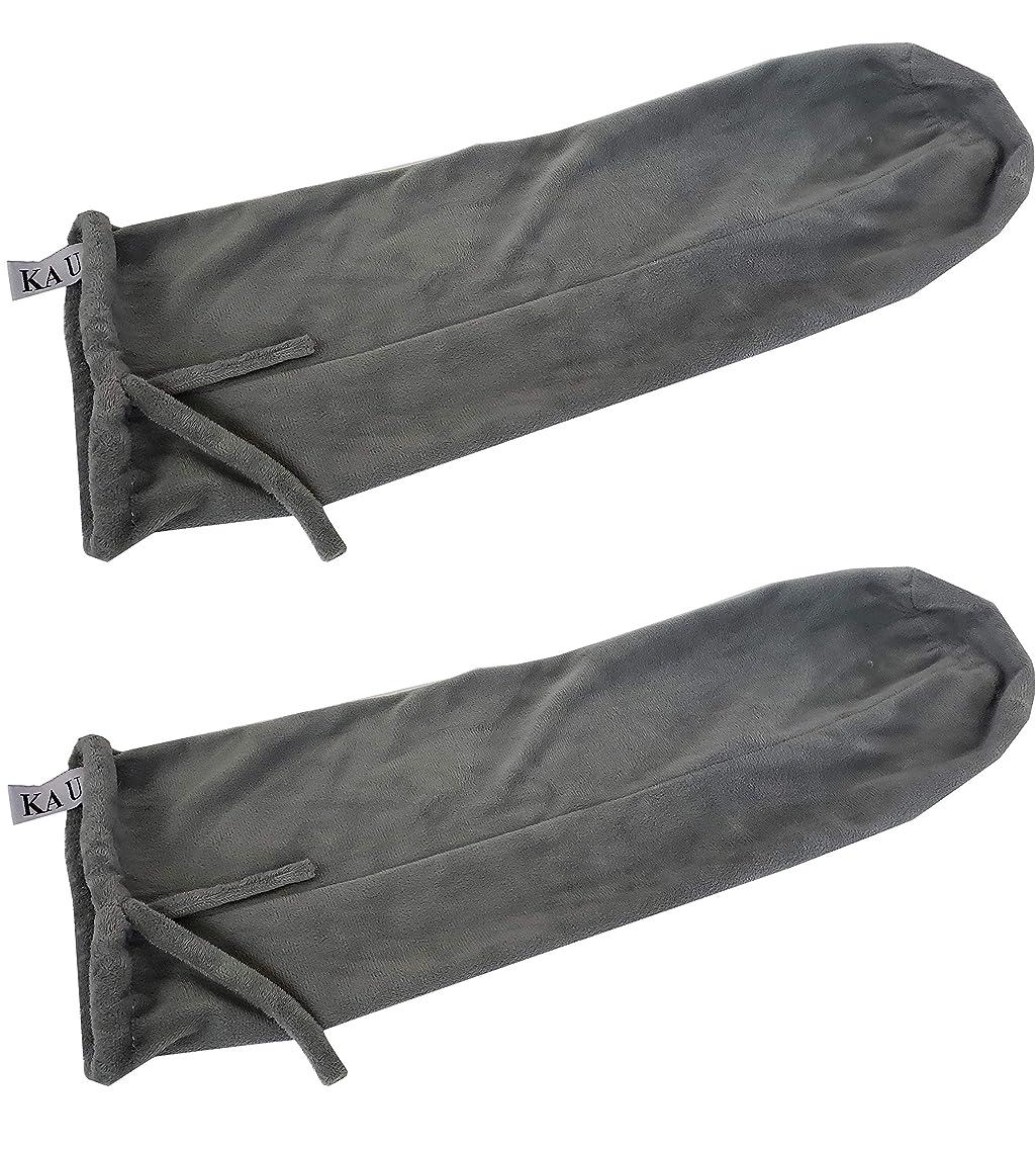 Ka Ua Cervical Neck Roll Bolster Pillow Case Set of 2– Plush Velour 6