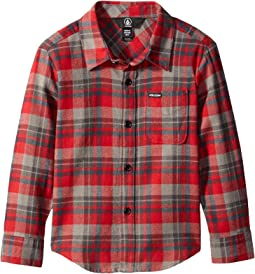Volcom Kids - Hewitt Flannel Long Sleeve Shirt (Toddler/Little Kids)