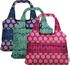 ChicoBag Vita Designer Reusable Tote Bag Set of 3 Art Deco