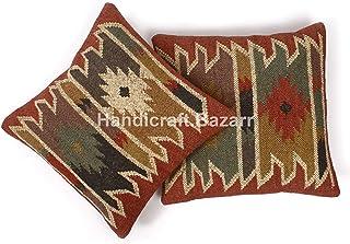 Handicraft Bazar - Juego de 2 cojines de 18
