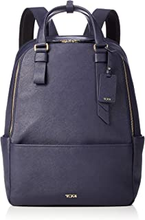 TUMI - Varek Worth Leather Laptop Backpack - 15 Inch Computer Bag for Men and Women - Navy
