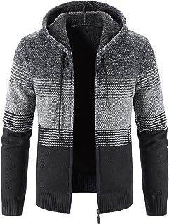 Sponsored Ad - ELEFINE Men's Casual Slim Zip Knitted Cardigan Sweaters Jacket