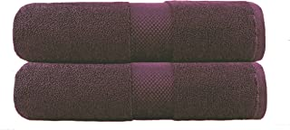 COTTON CRAFT - 2 Pack Luxuriously Oversized Hotel Bath Sheet - Plum- 100% Ringspun Cotton - 40x80 - Heavy Weight 700 Grams - 2 Ply Construction - Highly Absorbent - Easy Care Machine Wash