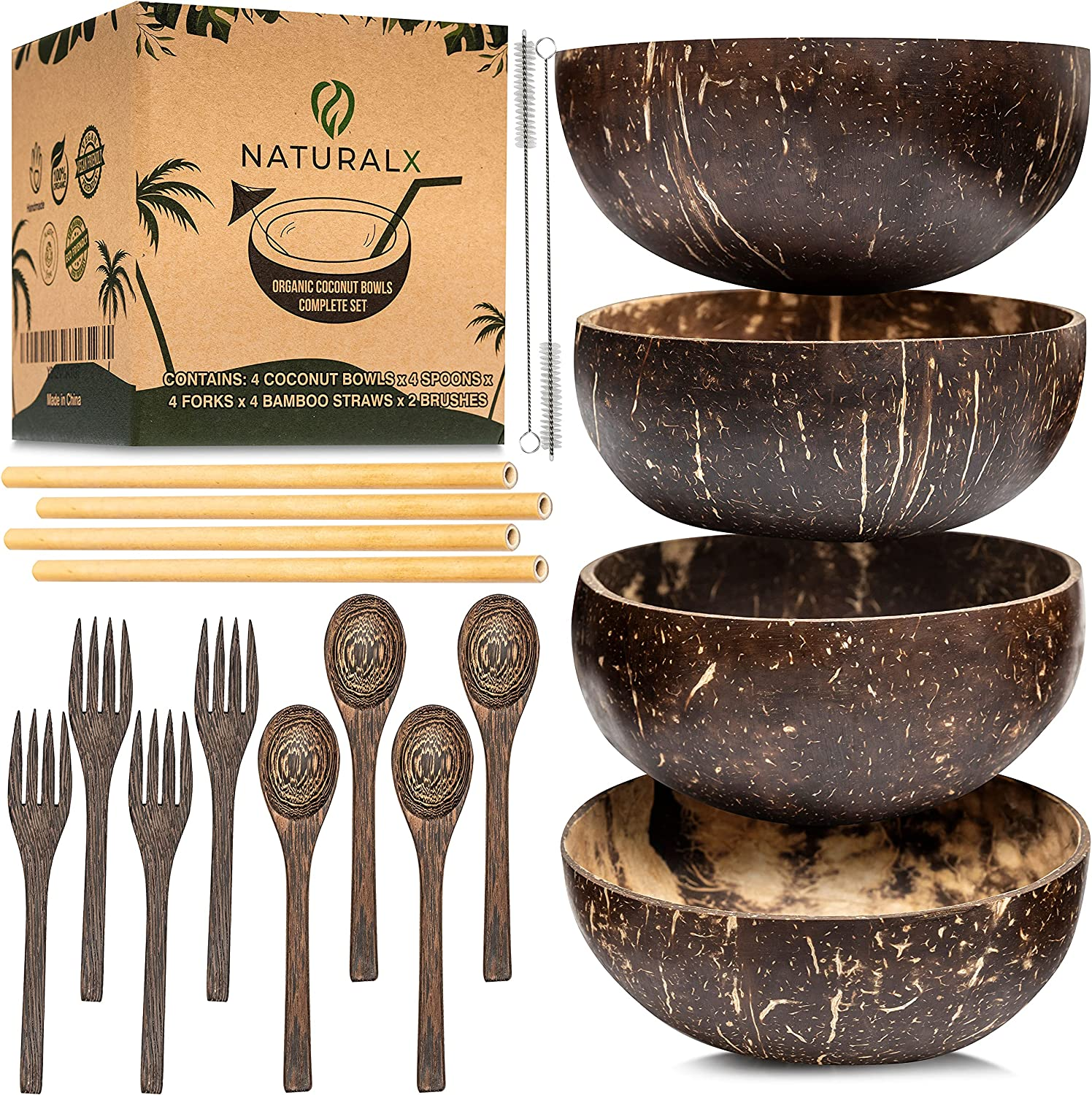 NaturalX Premium Coconut Bowls with Spoons Set Made of Mesa Mall fro Fort Worth Mall 4
