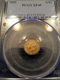 1851 gold dollar