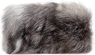 Fawziya Faux Fur Two Tone Color Evening Clutch Wallet Purse For Women
