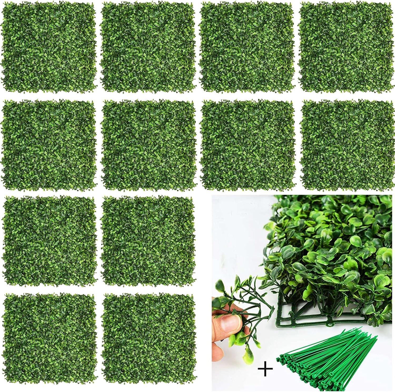 Wholesale DearHouse 12Pcs Super intense SALE Artificial Boxwood Panels Topiary P Hedge Plant
