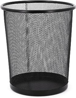Poubelle circulaire pour grille métallique - Poubelle de bureau - 26 x 24 - 12 l - Noir - 12 l
