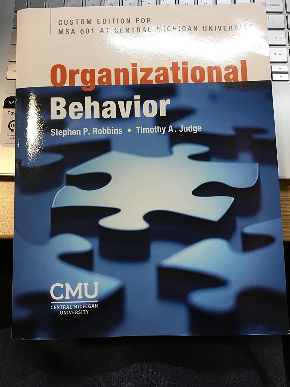 Organizational Behavior Custom Edition For MSA 601 at Central Michigan University