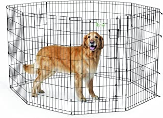 (110cm , Black) - MidWest Homes for Pets MaxxLock Exercise Pen for Pets