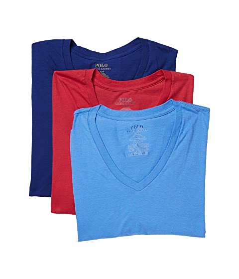 Polo Ralph Lauren 1/20 3-Pack V-Necks Sunrise Red/Harbour Island Blue/Bright Navy Outlet Wide Range Of kY7a6OVhA
