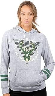 Ultra Game NBA Women's Soft Fleece Pullover Hoodie Sweatshirt with Varsity Stripe