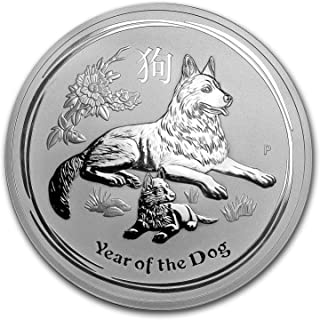 2018 AU Australia 1 kilo Silver Lunar Dog BU Silver Brilliant Uncirculated