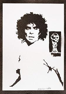 Poster Maradona Handmade Graffiti Street Art - Artwork