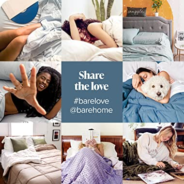Bare Home Duvet Cover Oversized Queen Size - Premium 1800 Super Soft Duvet Covers Collection - Lightweight, Cooling Duvet Cov