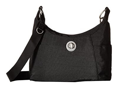 Baggallini International Triple Threat Zurich Medium Hobo (Black) Hobo Handbags