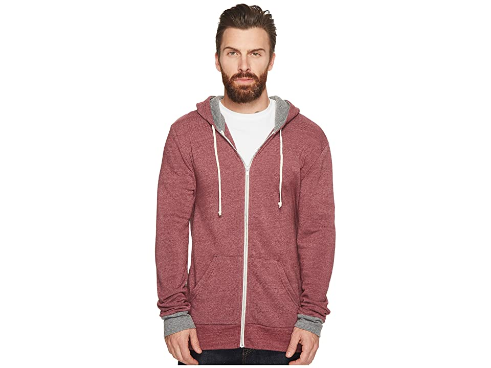 Alternative Rocky Color Blocked Hoodie (Eco True Currant/Eco Grey) Men