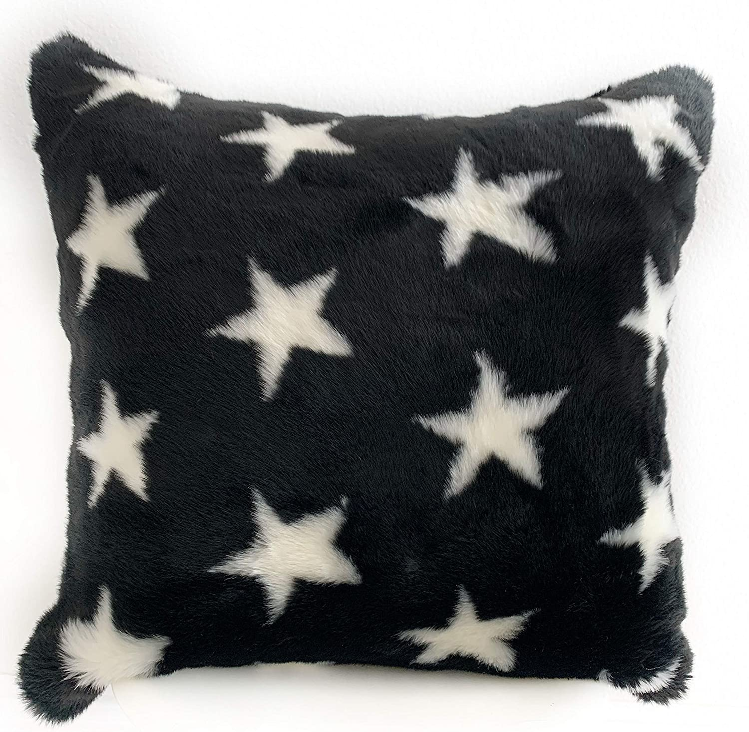 67% OFF of fixed price Plutus Brands Black New York Mall and White Soft Animal Fur Stars Faux