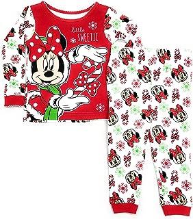 Disney Infant Girls Minnie Mouse Christmas Holiday Sleep Set Baby Pajamas