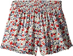 Floral Ruffled Challis Shorts (Little Kids/Big Kids)