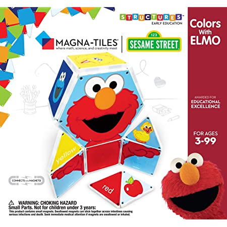 Amazon.com: CreateOn Sesame Street Colors With Elmo, The Original Magnetic  Building Tiles Making Learning Basic Colors Fun And Hands-On, Versatile  Educational Toy For Children Ages 3 Years +: Toys & Games