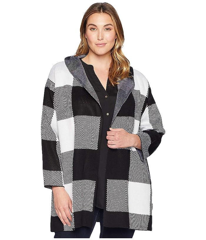 d50e04650fdab7 Calvin Klein Plus Plus Size Long Check Jacket w/ Hood at 6pm