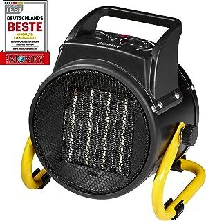 Bomann HL 1120CB–Calefactor de cerámica, 4niveles de interruptor, termostato regulable, 2niveles de calor (1000/2000W), función ventilador