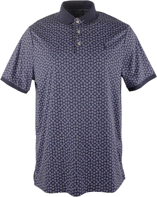 Men's Big and Tall Paisley Print Polo Shirt