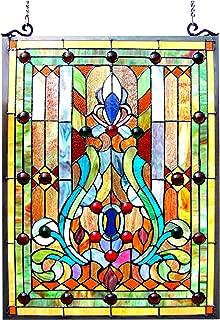 Chloe Lighting Stained Glass Victorian Window Panel 18X24