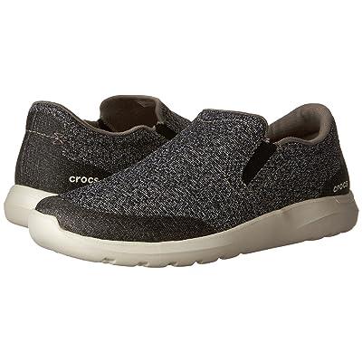 Crocs Kinsale Static Slip-On (Charcoal/Pearl White) Men