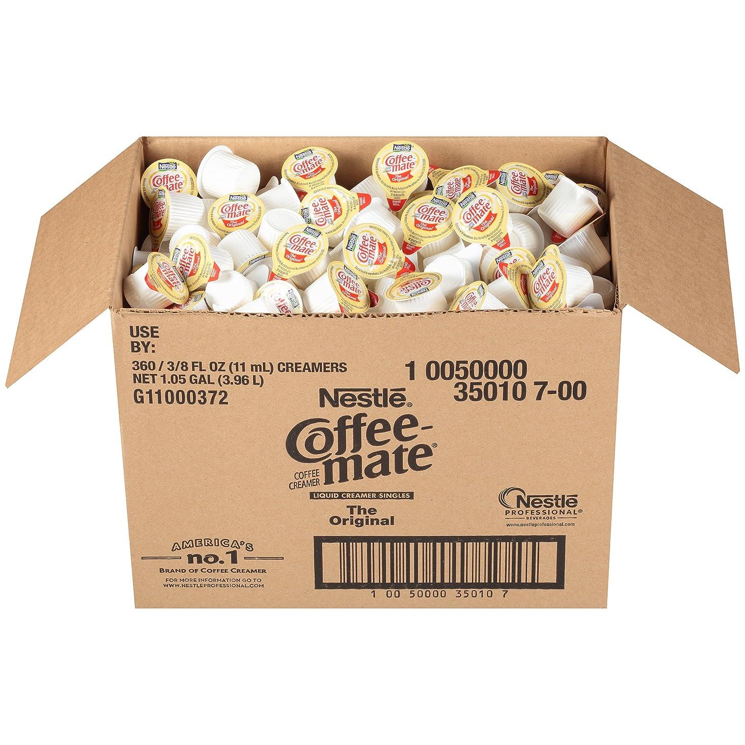 NESTLE COFFEE-MATE Coffee Creamer, Original, liquid creamer singles, Pack of 360