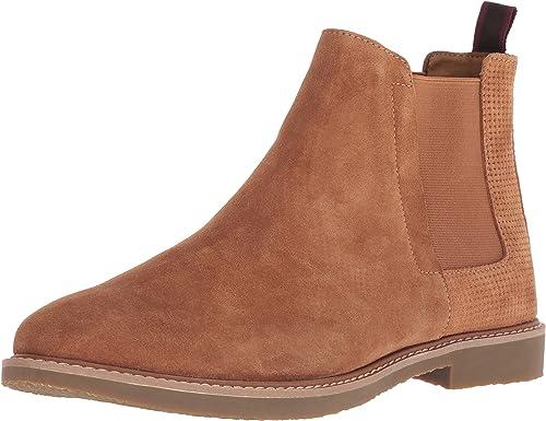 Steve Madden Men's HIGHLYTE Chelsea botas, tan Suede, 8 M US