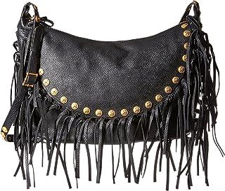 فالنتينو حقيبة كتف مهدب للنساء، أسود