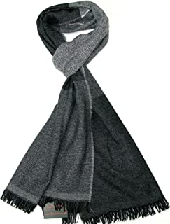Sponsored Ad – Lovarzi Men's Wool Scarf - Luxurious Striped Winter Scarves for Men - Made in Italy