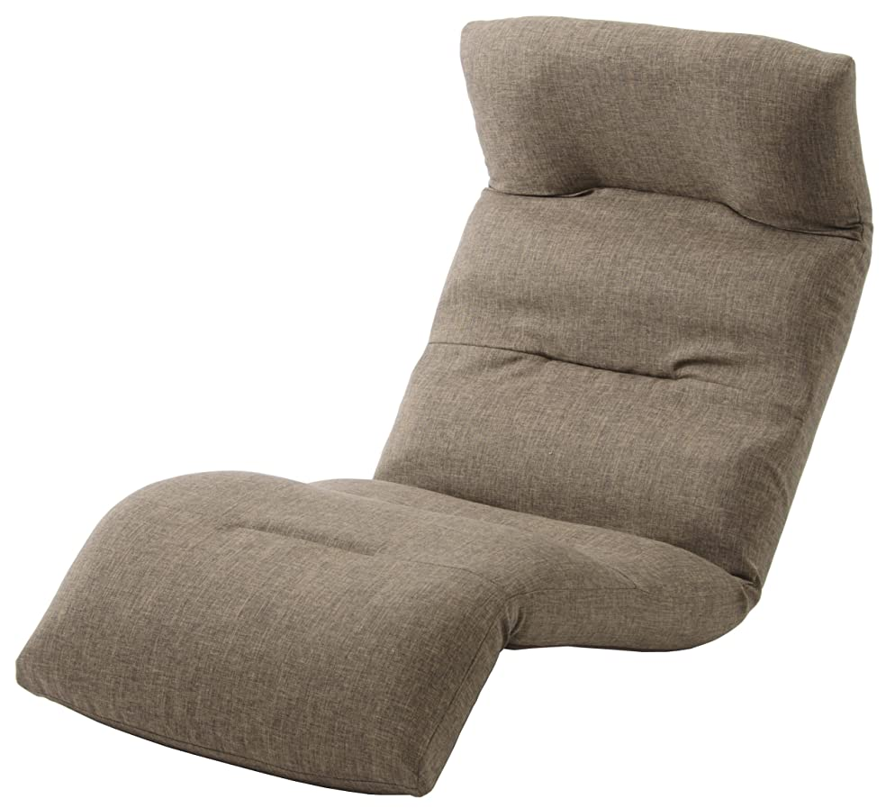 協力する語極貧セルタン 座椅子 和楽の雲 下タイプ ダリアンブラウン 頭部脚部リクライニング 日本製 A193下R-561BR
