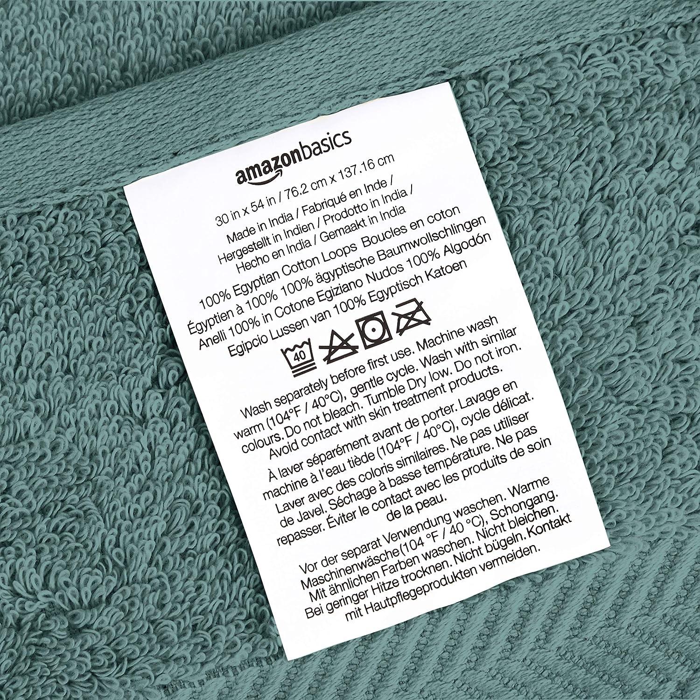 Basics Egyptian Cotton Washcloths - 6-Pack, Pristine Snow: Home & Kitchen