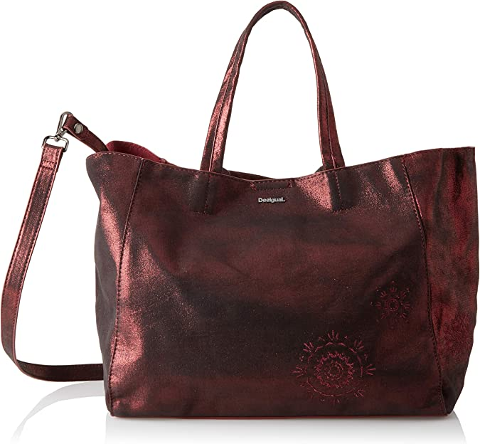 Desigual - Bols_brilli Cuenca, Shoppers y bolsos de hombro Mujer, Rojo (Carmin), 16.5x30x37.5 cm (B x H T)