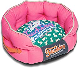 touchdog Rabbit-Spotted Premium Rounded Dog Bed