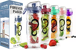 (950ml, Navy Blue) - Live Infinitely 950ml Infuser Water Bottles - Featuring a Full Length Infusion Rod, Flip Top Lid, Dua...