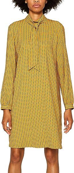 Esprit Collection Damen 099eo1e026 Kleid Gelb Amber Yellow 700 Herstellergrosse 34 Amazon De Bekleidung