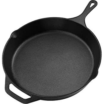 Utopia Kitchen Pre-Seasoned Cast Iron Skillet - 12.5 Inch - Multipurpose Use for Home Kitchen or Restaurant