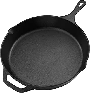 Pre-Seasoned Cast Iron Skillet - Utopia Kitchen (1, 12.5 Inch)