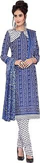 Minu salwar Cotton Printed Suit sets Blue(Pbeauty_6002_0)