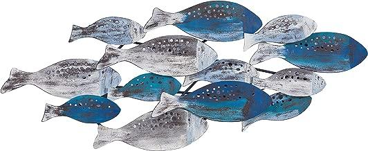 Danya B. FHB6563 School of Fish Modern Metal Wall Art – Perfect for Coastal, Nautical, Beach, or Boat Décor